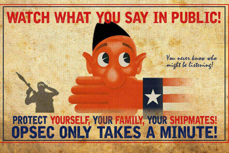 OPSEC Poster Says to Watch What You Say In Public