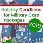 2019 Military Holiday Mailing Deadlines