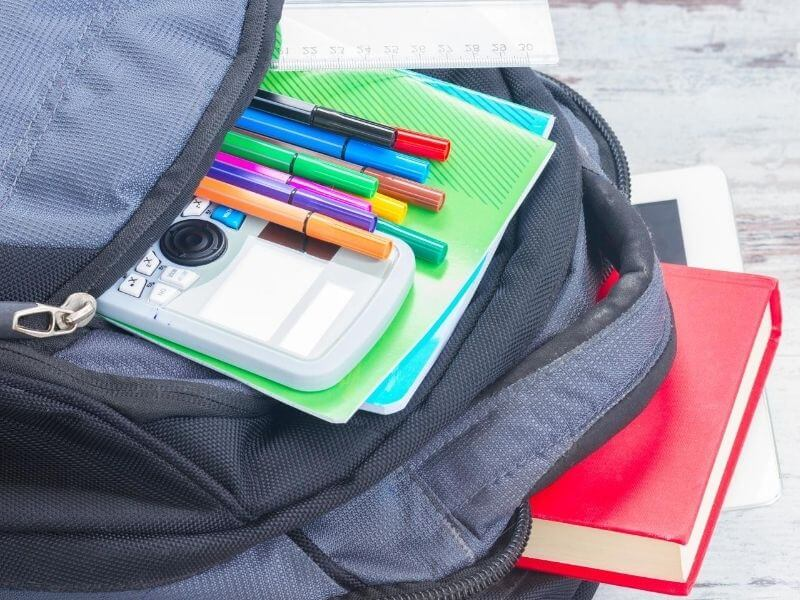 Filling your backpack with all your school supplies help your kids start off right when going back to school.